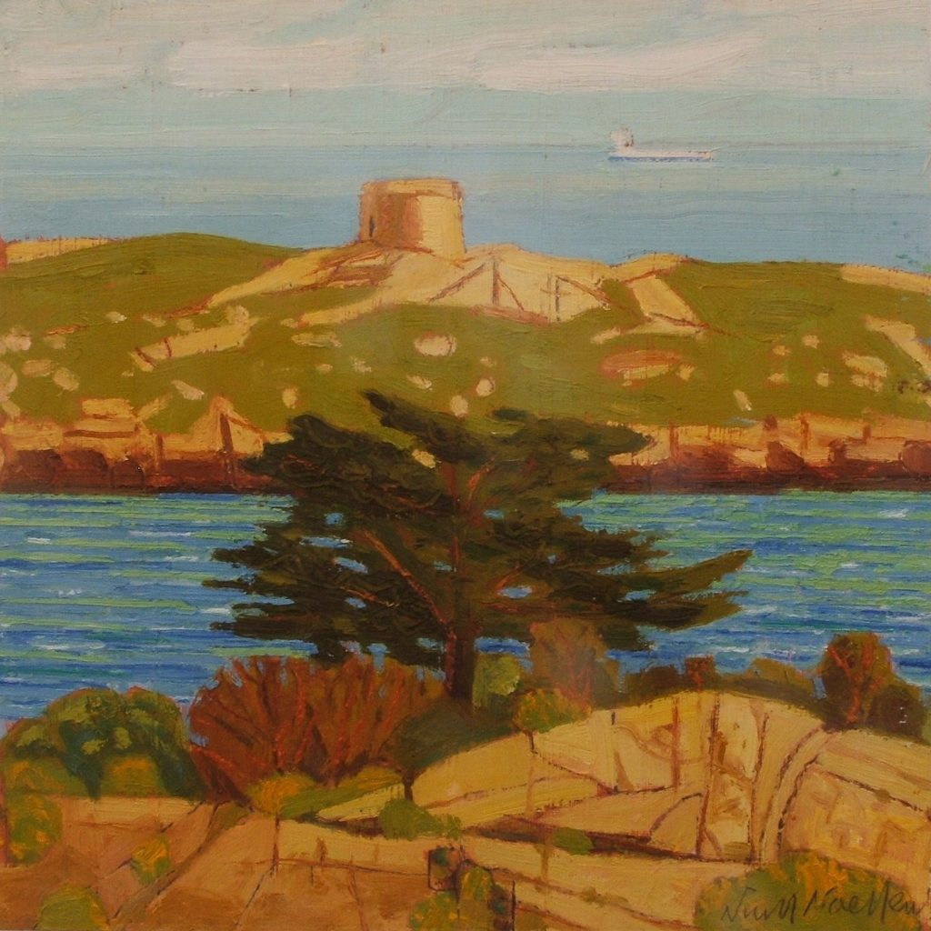 Dalkey Island 2008. oil on paper 20x20cm (Photo: Niall Naessens)