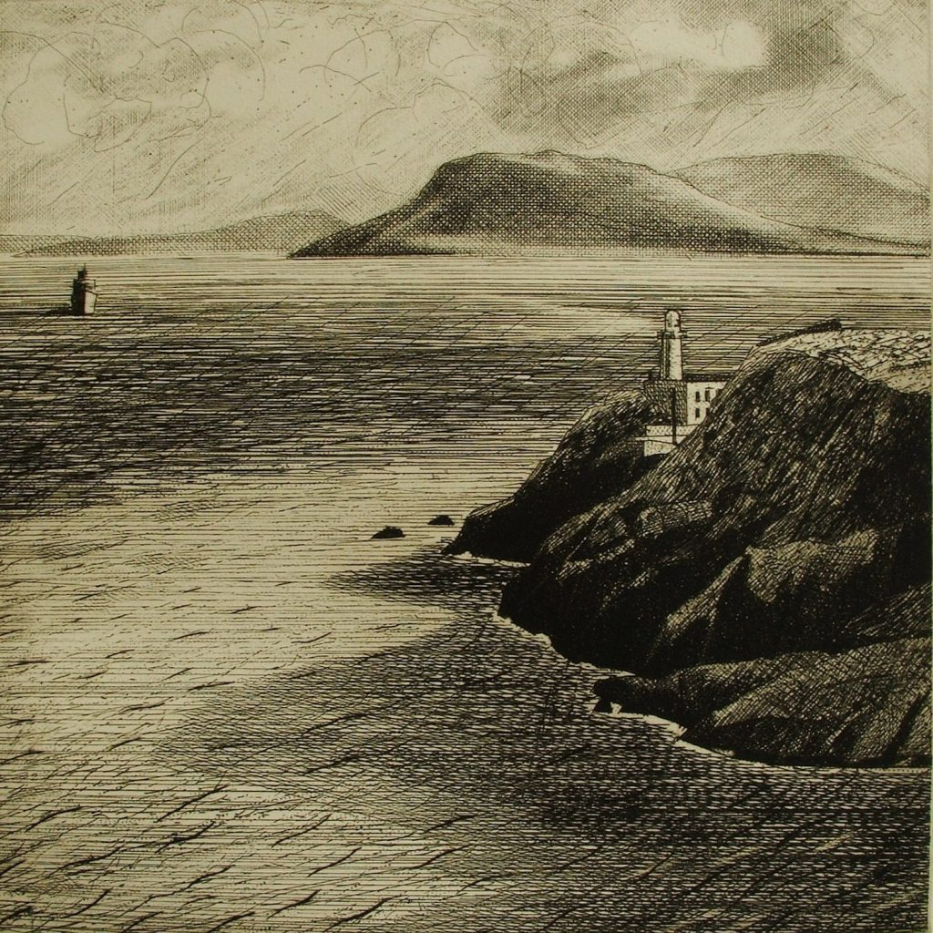 Vico-The Great Baily and Bray Head from Gaskins Leap 2006 Etching on Hannemulhe 600g 30 x 30 cm