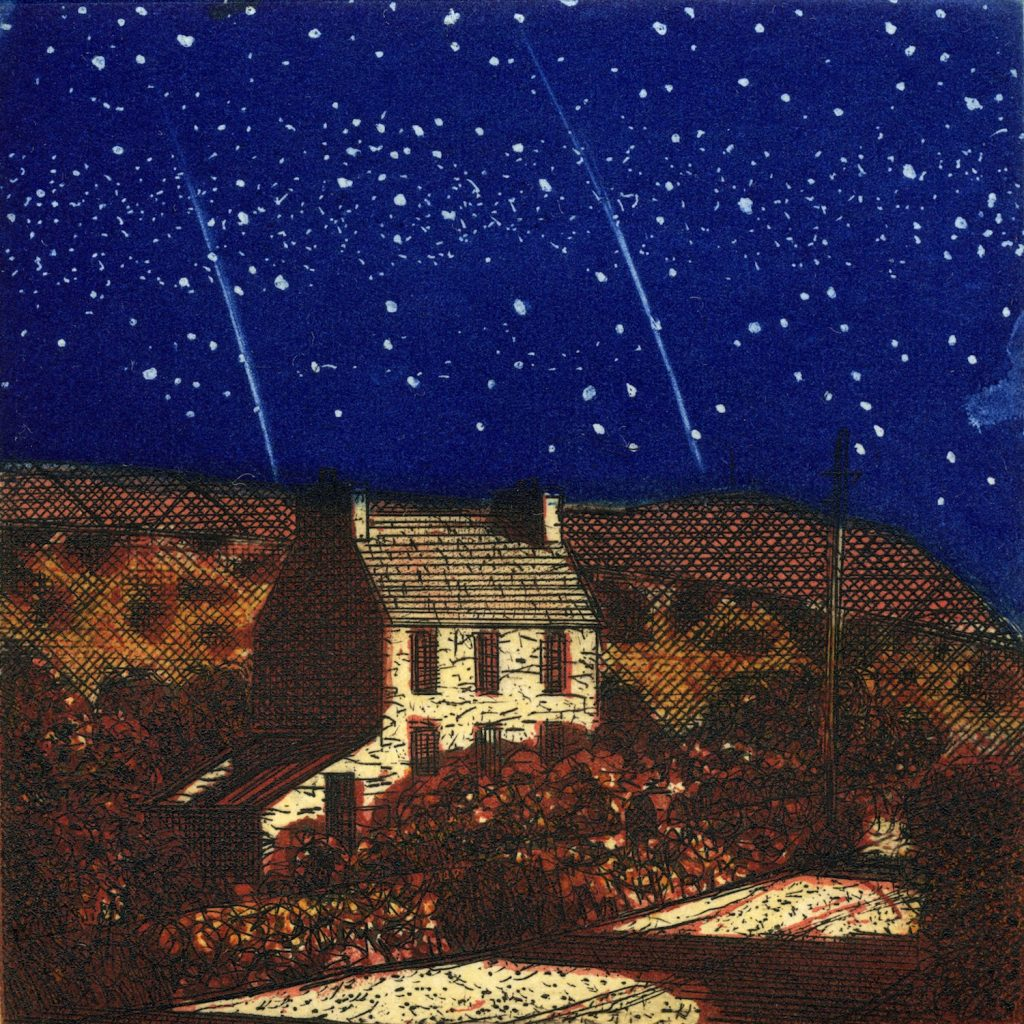 Night Walking 2010 Etching on Zerkall 350g